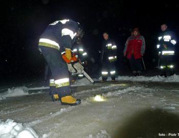Dotlenianie Moczydła podczas zimy 2010/11