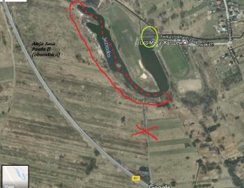 Samochodowy dostęp do akwenu Moczydło - Jeziórko w Karczewie ograniczony !