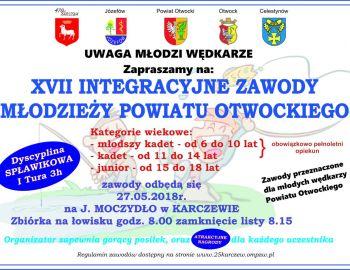 Serdecznie zapraszamy na XVII integracyjne zawody młodzieży powiatu Otwockiego.