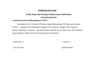 Uwaga Uchwała Zarządu Okręgu Maz. o POROZUMIENIACH