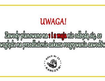 UWAGA INFORMACJE O ZAWODACH